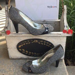 Style & Co tweed pumps